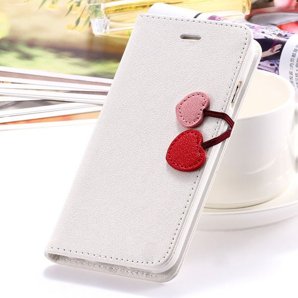 Fashion Flip Heart Case For Iphone 5C Stand Holster Cover Pu Leath 1835380861-3-white