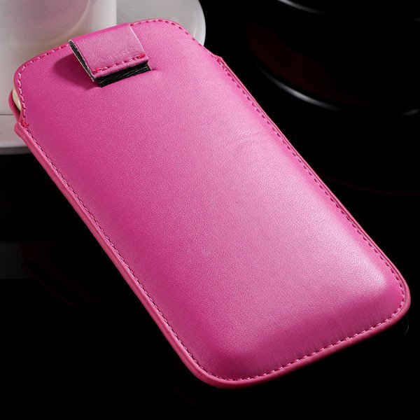 5S Universal Phone Case For Iphone 5 5S 5G 4 4S 4G Pu Leather Cove 32268093589-7-hot pink
