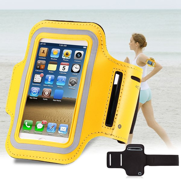 Fresh Yellow Casual Sports Arm Band For Iphone 5 5S 5G Case Outdoo 32248026265-1-