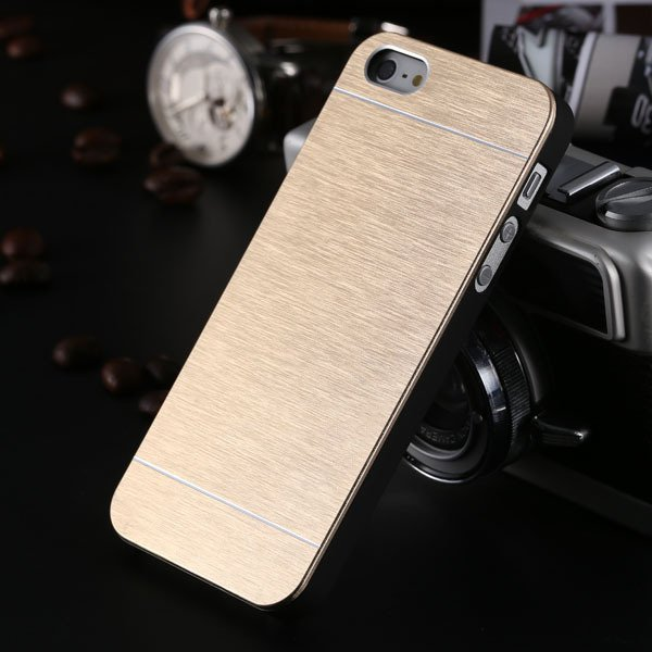5S Luxury Aluminum Metal Brush Case For Iphone 5 5S 5G Shiny Slim  32258137899-4-gold