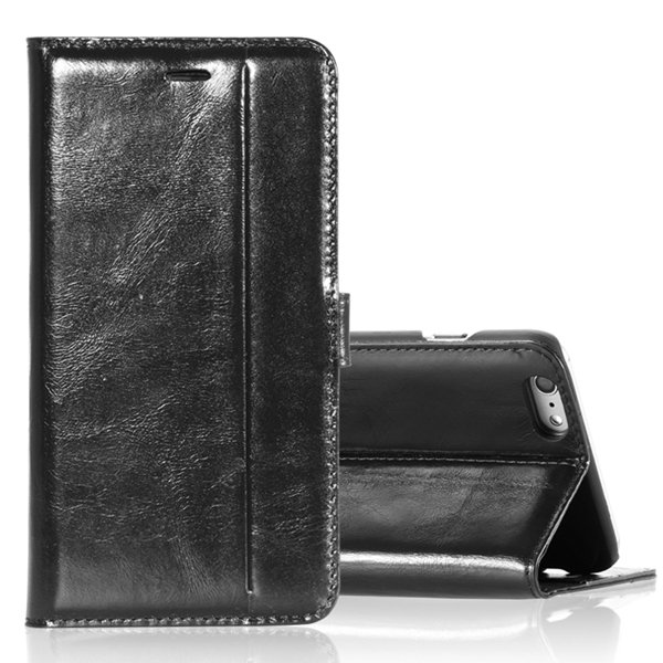 5S Flip Leather Case Original Real Leather Cover For Iphone 5 5S 5 32271077936-1-black