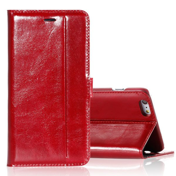 5S Flip Leather Case Original Real Leather Cover For Iphone 5 5S 5 32271077936-3-red