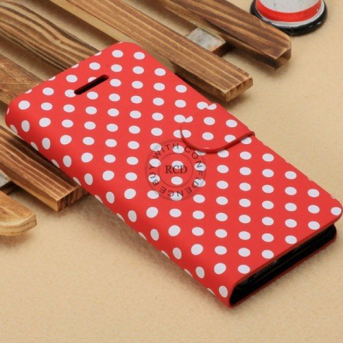 Wave Point Leather Case For Iphone 5C Fashion Handbag For Iphone5C 1322707628-3-Red