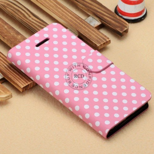 Wave Point Leather Case For Iphone 5C Fashion Handbag For Iphone5C 1322707628-5-Pink