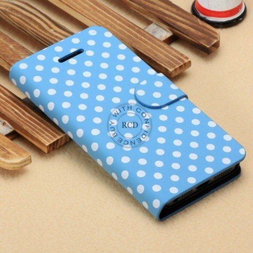 Wave Point Leather Case For Iphone 5C Fashion Handbag For Iphone5C 1322707628-6-Blue