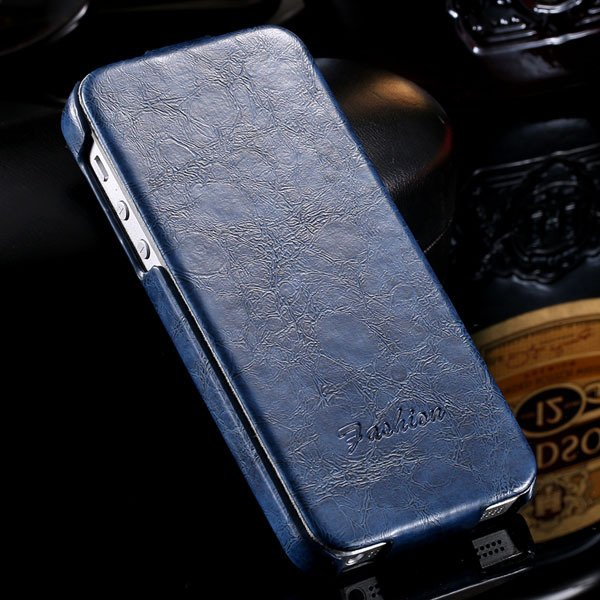 Retro Grease Glazed Pu Leather Cover For Iphone 5 5S 5G Full Prote 32251855587-3-blue