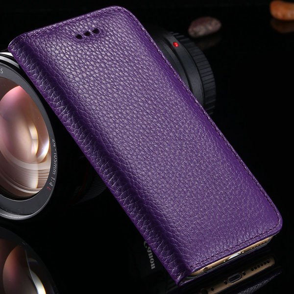 5S Genuine Leather Case For Iphone 5 5S 5G Full Protective Cell Ph 32269665739-4-purple