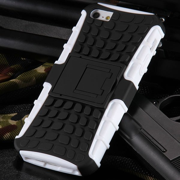 5S Heavy Duty Armor Case For Iphone 5 5S 5G Dual Protect Hybrid Ba 32303987983-2-white