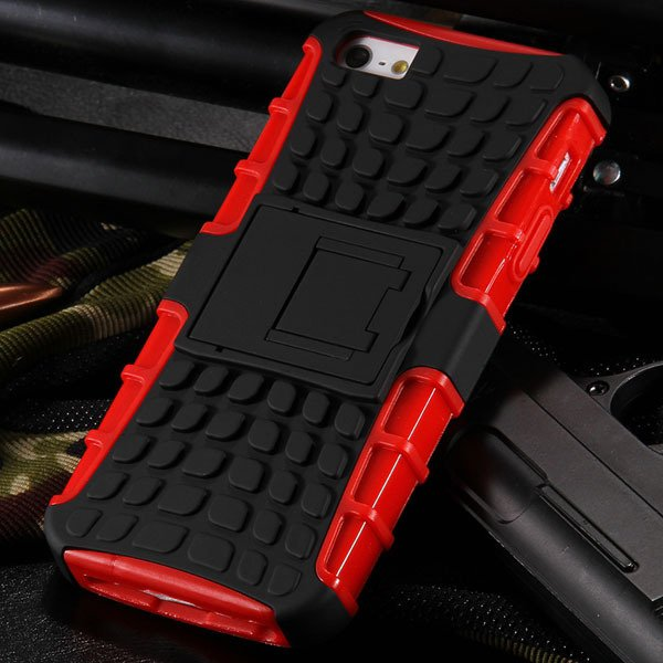 5S Heavy Duty Armor Case For Iphone 5 5S 5G Dual Protect Hybrid Ba 32303987983-3-red