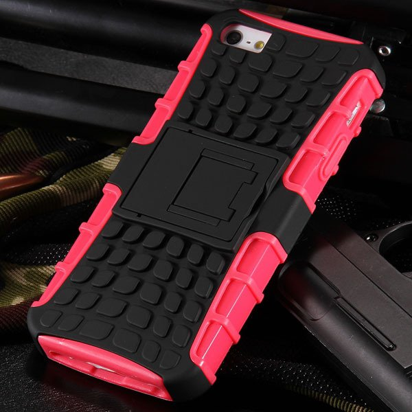 5S Heavy Duty Armor Case For Iphone 5 5S 5G Dual Protect Hybrid Ba 32303987983-7-pink