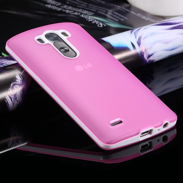G3 Soft Tpu Combo Case For Lg G3 Cover For D858 D859 Plastic Back  2024340846-3-pink