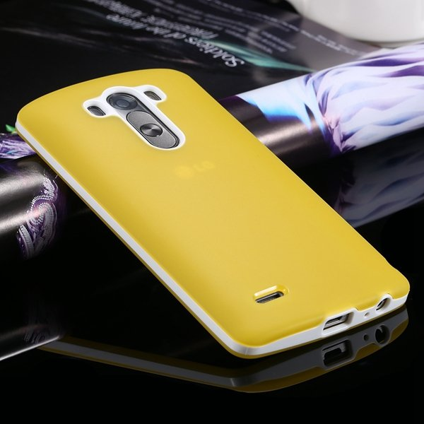 G3 Soft Tpu Combo Case For Lg G3 Cover For D858 D859 Plastic Back  2024340846-7-yellow
