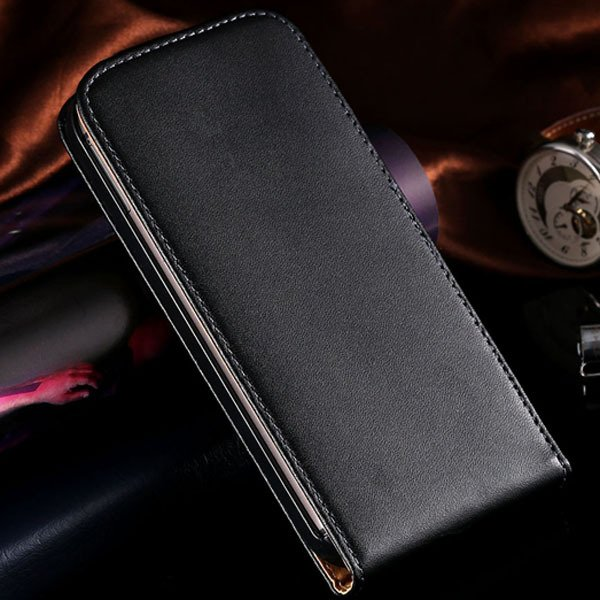M8 Genuine Leather Case Vertical Flip Phone Cover For Htc One M8 F 1820561444-1-Black