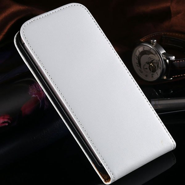 M8 Genuine Leather Case Vertical Flip Phone Cover For Htc One M8 F 1820561444-2-White