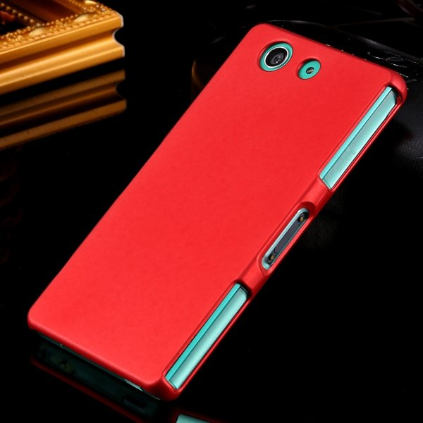 Z3 Mini Hard Case Ultra Slim Mat Lubricating Smooth Cover For Sony 32281411985-2-red