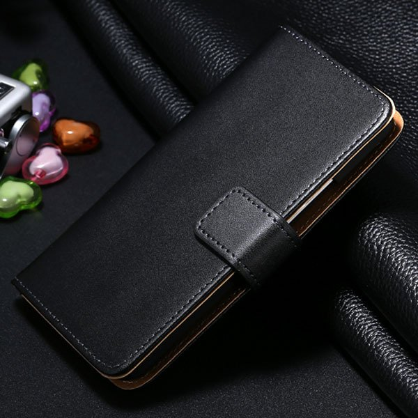 M7 Genuine Leather Case For Htc One M7 Flip Wallet Stand Full Cove 1321815681-1-black