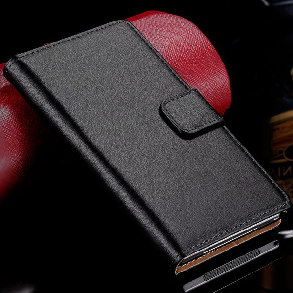 Z1 Genuine Leather Case Wallet Cover With Magnetic Buckle For Sony 32275782788-1-black