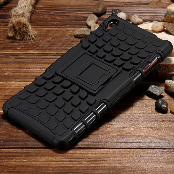 Z3 Heavy Duty Case 2 In 1 Armor Cover For Sony Xperia Z3 D6603 D66 32274162693-3-black