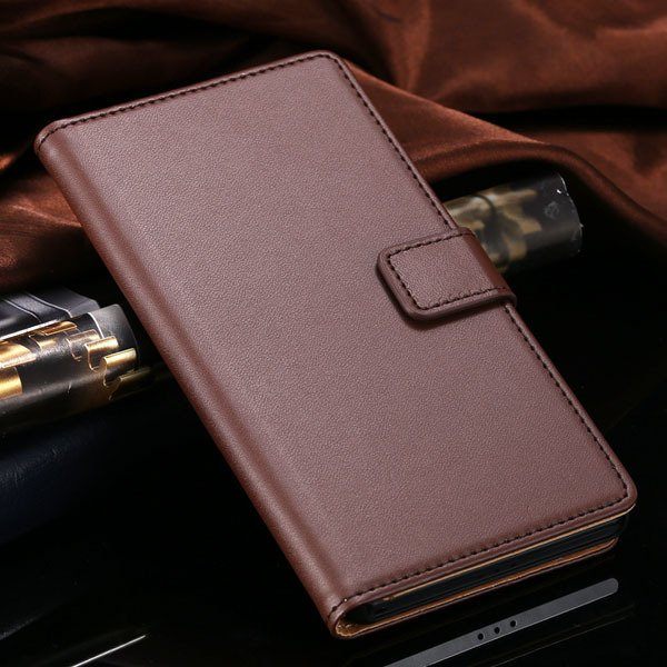 Hot Genuine Leather Wallet Case For Sony-Ericsson Xperia Z2 D6503  1821664329-4-brown