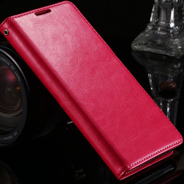 Z2 Pu Leather Case For Sony-Ericsson Xperia Z2 D6503 D6502 L50W L5 1877559670-4-hot pink