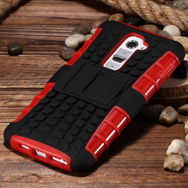 G2 Armor Case Heavy Duty Hybrid Cover For Lg G2 Optimus D802 D801  32274018481-8-red