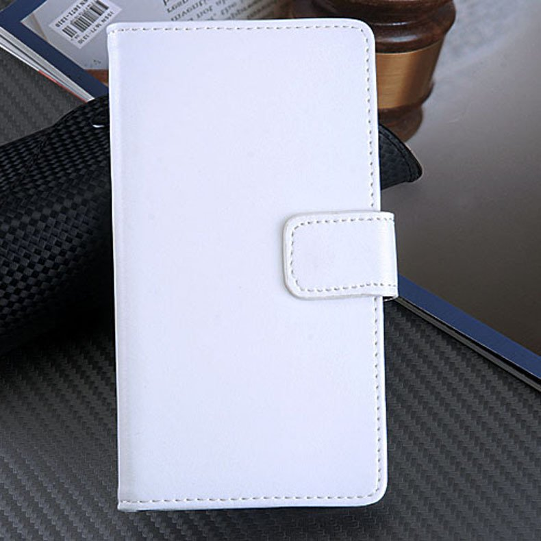 Genuine Leather Case For Sony Ericsson Xperia Z L36H Flip Cover Wi 32264415085-2-white