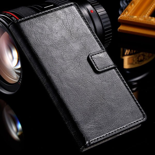 For Sony L36H Wallet Book Case Luxury Pu Leather Cover For Sony Xp 32283789281-1-black