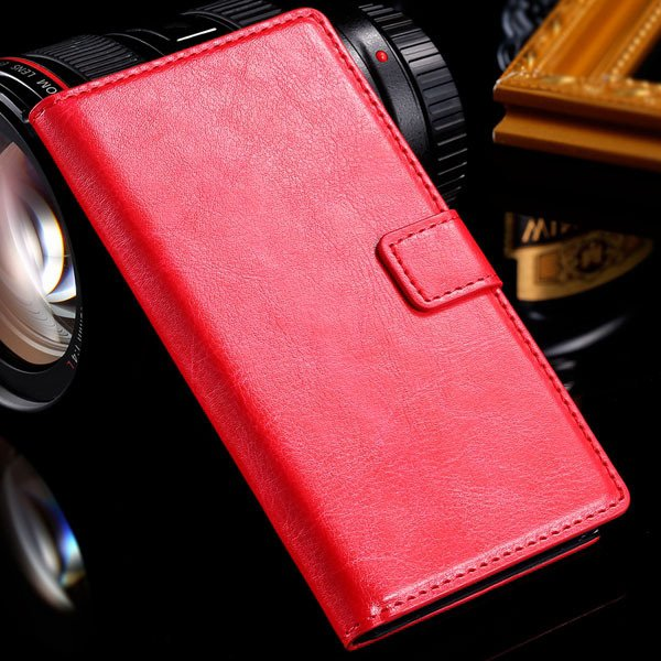 For Sony L36H Wallet Book Case Luxury Pu Leather Cover For Sony Xp 32283789281-3-red