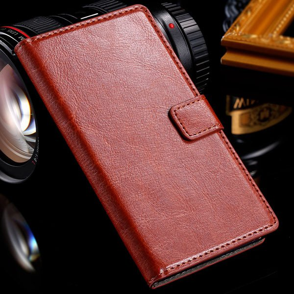 For Sony L36H Wallet Book Case Luxury Pu Leather Cover For Sony Xp 32283789281-5-brown