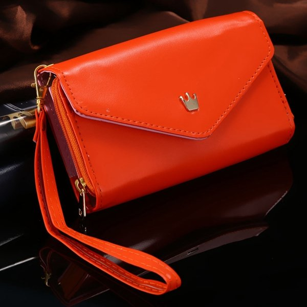 Elegant Lady General Phone Bag For Htc One M7 Pu Leather Case Full 32251573288-1-orange