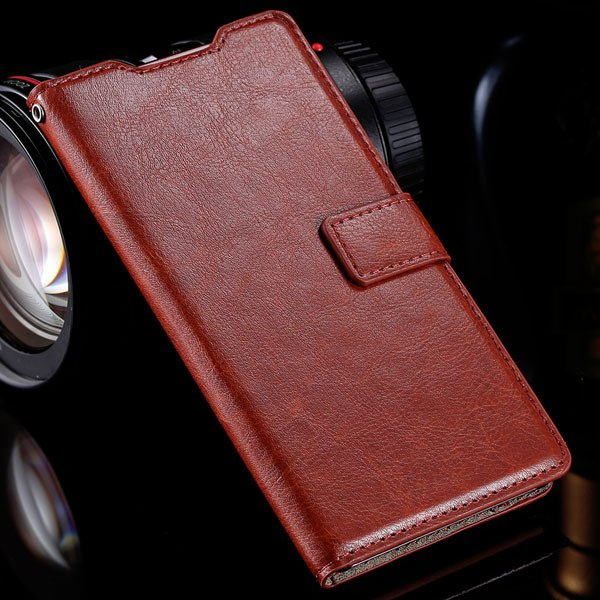 Z3 Luxury Pu Leather Case Vintage Wallet Book Cover For Sony-Erics 32283515946-4-brown