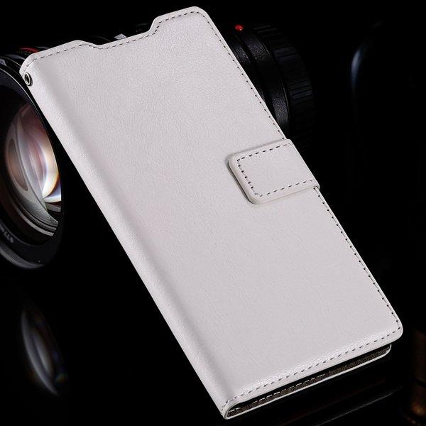 Z3 Flip Wallet Case Retro Pu Leather Cover For Sony-Ericsson Xperi 32284532711-3-white