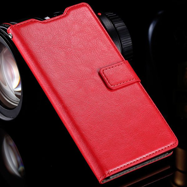 Z3 Flip Wallet Case Retro Pu Leather Cover For Sony-Ericsson Xperi 32284532711-6-red