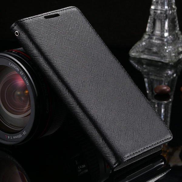 Cross Grain Genuine Leather Case For Sony-Ericsson Xperia Z2 D6503 1879216741-1-black