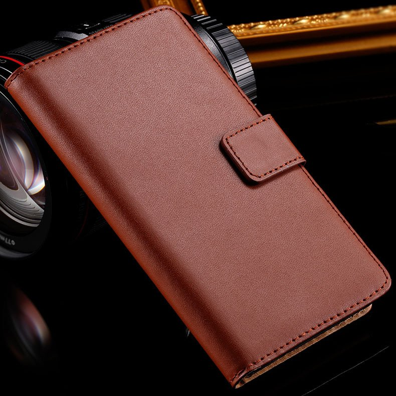 Z3 Wallet Leather Case With Magnetic Buckle For Sony-Ericsson Xper 32276680677-4-brown