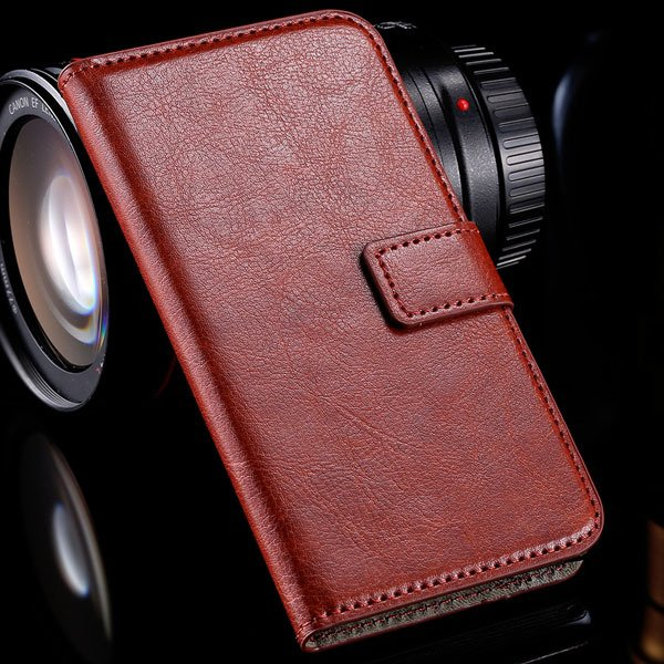 M2 Luxury Pu Leather Case Flip Wallet Book Cover For Sony Xperia M 32283749003-2-brown