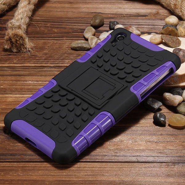 Z2 Heavy Duty Case Armor Cover For Sony Xperia Z2 L50W 6502 Hybrid 32274479604-2-purple