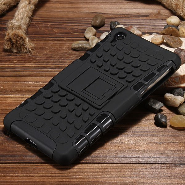 Z2 Heavy Duty Case Armor Cover For Sony Xperia Z2 L50W 6502 Hybrid 32274479604-3-black