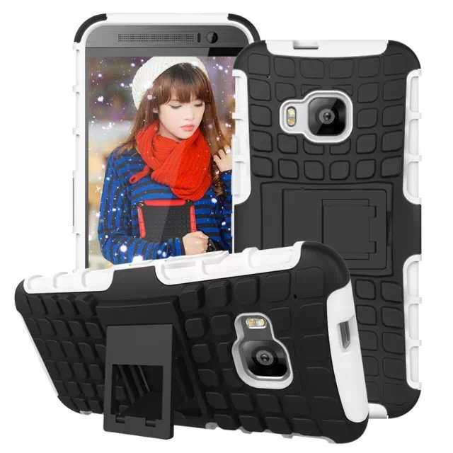 M9 Armor Case Heavy Duty Hard Cover Case For Htc One M9 Dual Layer 32297406417-2-white