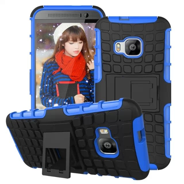 M9 Armor Case Heavy Duty Hard Cover Case For Htc One M9 Dual Layer 32297406417-4-blue