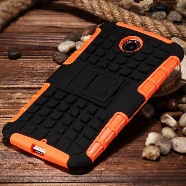 For Nexus 6 Heavy Duty Armor Case Combo Hybrid Cover For Google Ne 32295080159-5-orange