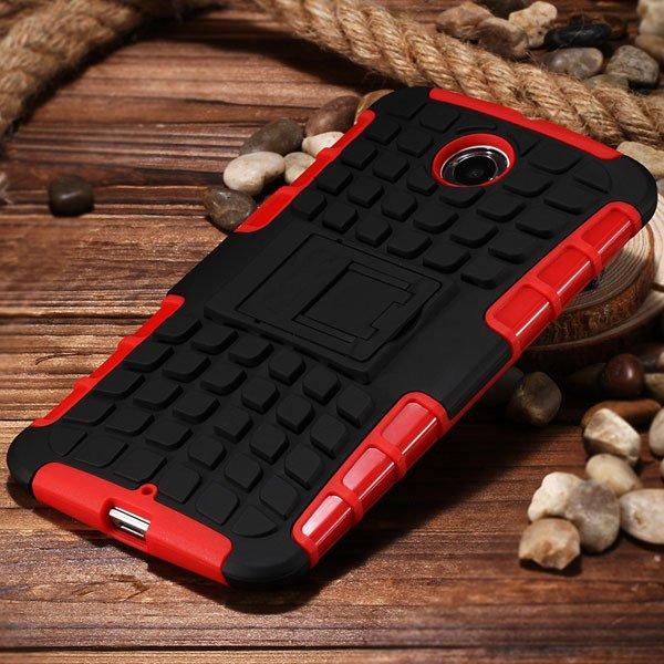 For Nexus 6 Heavy Duty Armor Case For Motorola Moto Google Nexus 6 32295072447-6-red