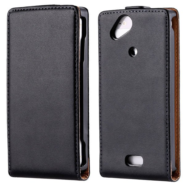 For Sony X12 Genuine Leather Case Full Protect Cover For Sony Eric 32290469783-1-black