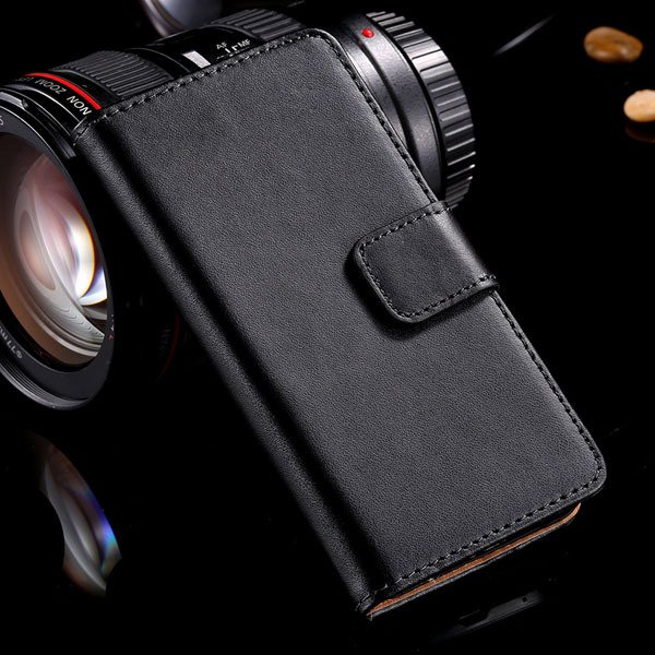 For Htc One Mini Luxury Genuine Leather Case Flip Wallet Cover For 32288871960-1-black