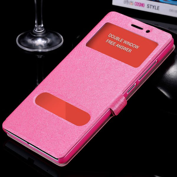For Hongmi Note Flip Wallet Cover Free Answer Double Window View C 32283925859-5-rose