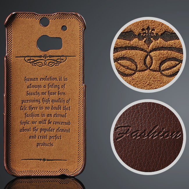 M8 Genuine Leather Case Vogue Fashion Card Insert Back Cover For H 32237300662-1-brown