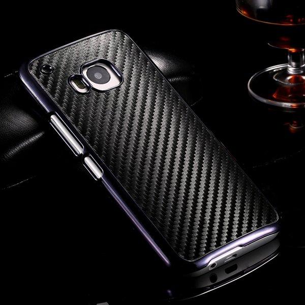 M9 Luxury Carbon Fiber Case With Chromed Metallic Plating Frame Ed 32304891410-1-black