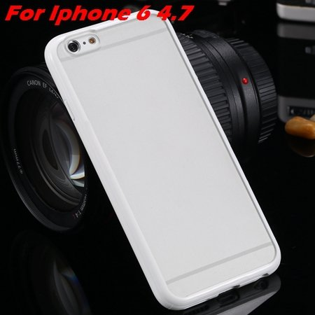 New Arrival Slim Colorful Tpu Clear Case For Iphone 6 4.7'' Phone  2018245815-3-white For Iphone 6