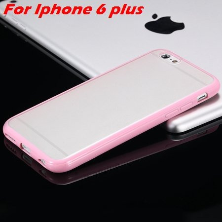 New Arrival Slim Colorful Tpu Clear Case For Iphone 6 4.7'' Phone  2018245815-20-Pink For I6 Plus