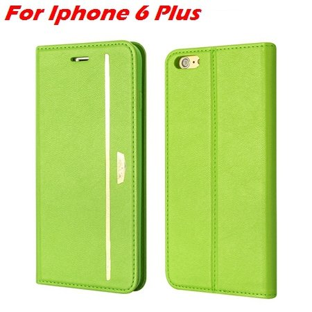 Luxury Fashion High Quality Leather Case For Iphone 6 Flip Case St 2055637345-5-Green For I6 Plus